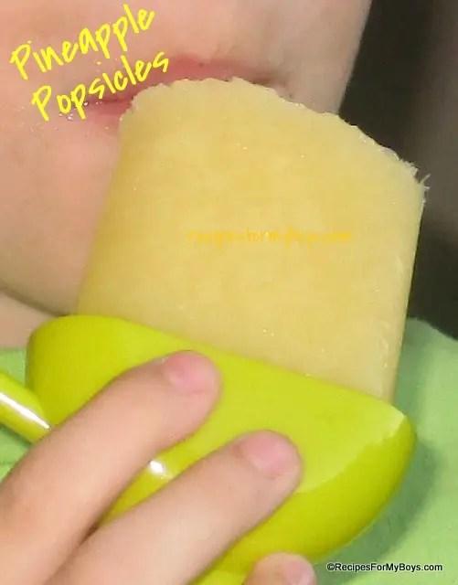 Pineapple Popsicles