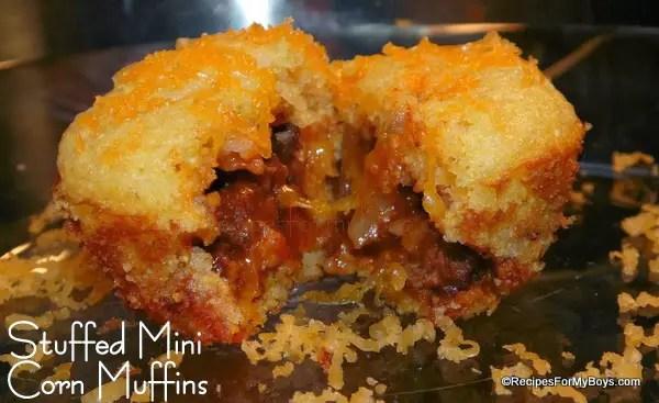Stuffed Mini Corn Muffins
