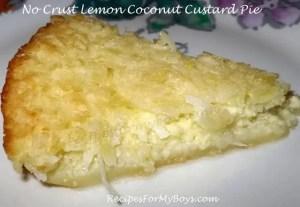 Coconut Lemon Custard Pie w/Self Making Crust