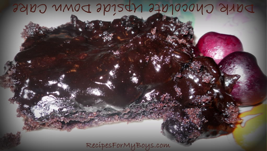 Dark Chocolate Upside Down Cake