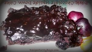 Dark Chocolate Upside Down Cake