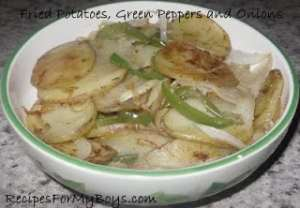 Read more about the article Fried Potatoes, Green Peppers and Onions