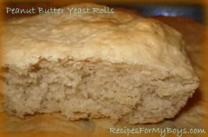 Peanut Butter Yeast Rolls