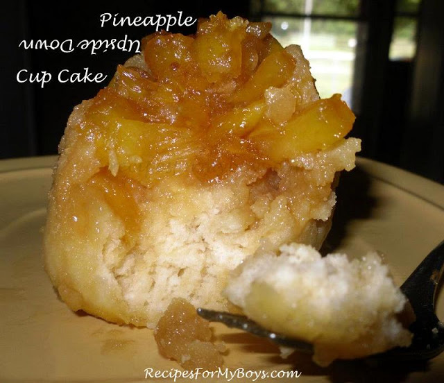 Pineapple Upside Down Cup Cake