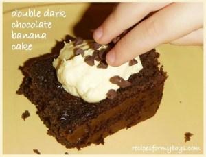 Double Dark Chocolate Banana Cake