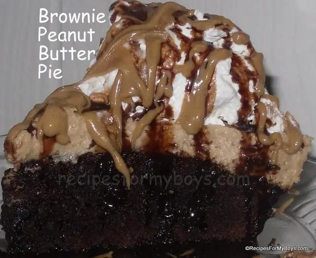 Brownie Peanut Butter Pie
