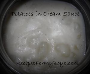 Potatoes with Cream Sauce