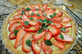 Strawberry Tart with Vanilla Coconut Pastry Cream