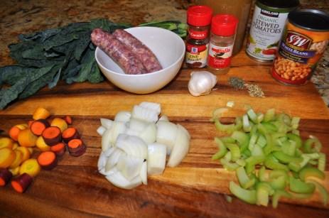 Kale & Sausage Soup - Ingredients