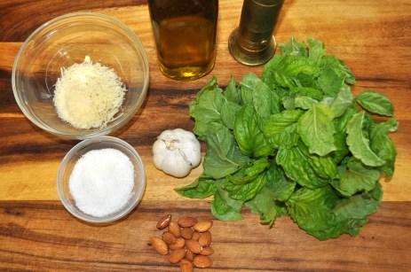 Basil Almond Pesto - Ingredients