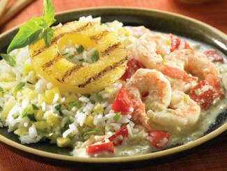 Shrimp Curry with Pineapple-Ginger Rice