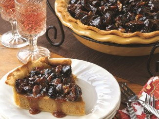 Sweet Potato Pie With Fig And Pecan Topping