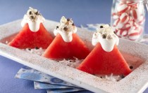 Snow Capped Watermelon Mountains