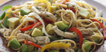 Chicken Fajita Pasta with Hass Avocado