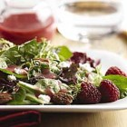 Assorted Greens with Feta, Cinnamon Dusted Pecans and Raspberry Vinaigrette