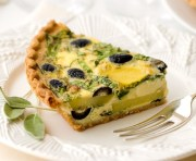 %name   Olive and Gruyere Quiche   RecipesNow.com