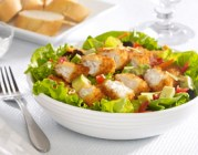 Sunshine Tilapia Salad with Dijon Dill Dressing