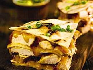 Barbecued Chicken Quesadilla with Avocado Salsa