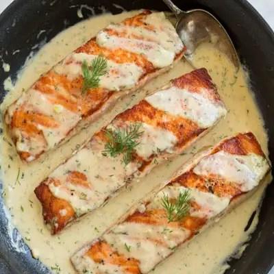 Salmon with Creamy Garlic Dijon Recipe