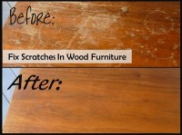 Recipes, Projects & More - Fix Scratches In Wood Furniture