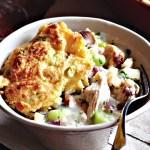 Turkey Pot Pie & Cheese-Cornbread Topping