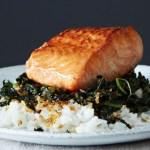 Crispy Coconu tKale Roasted Salmon