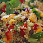 Curried Quinoa Salad with Black Beans and Mango