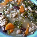 Kale & Mixed Bean with Turkey Sausage Soup