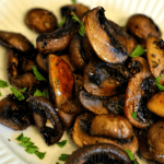 Seared Crimini Mushrooms with Garlic & Thyme