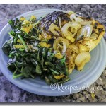Sautéed Spinach With Yellow Bell Pepper