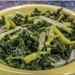 Kale with Caramelized Leeks Stir-fry