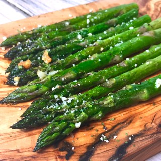 Baked Asparagus with Garlic and Parmesan