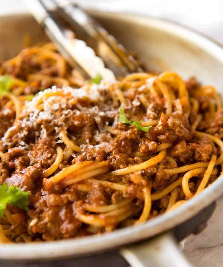 Resep Spaghetti Bolognaise : resep, spaghetti, bolognaise, Spaghetti, Bolognese, RecipeTin