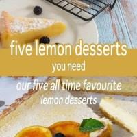 five lemon desserts you need