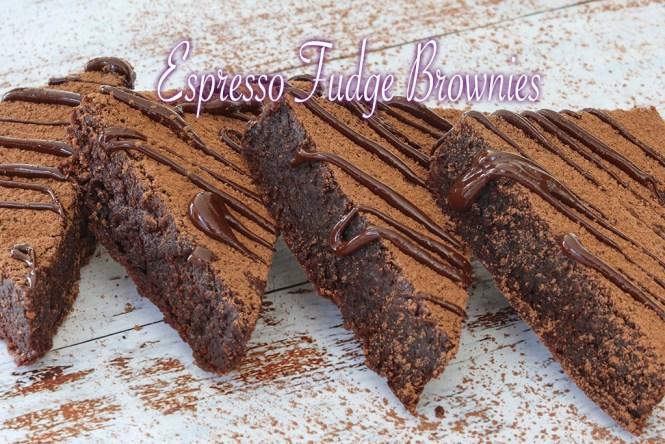 Espresso fudge brownies
