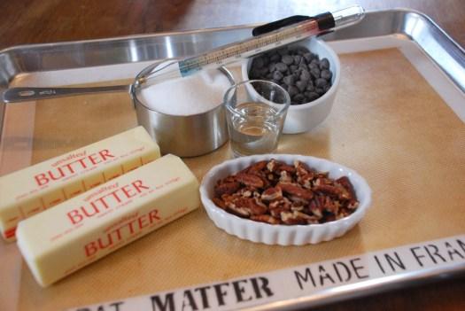 Toffee ingredients