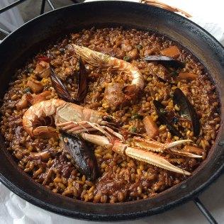 Délicieuse Paëlla du restaurant 7 Portes, Barcelone