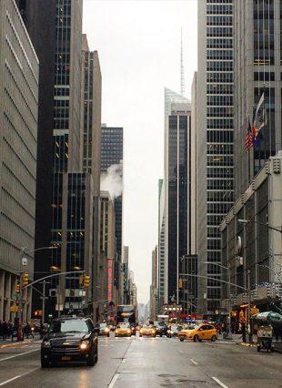 Vue sur la 5ème avenue de New York