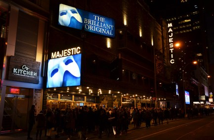 Façade du Majestic Theater de Broadway, New York