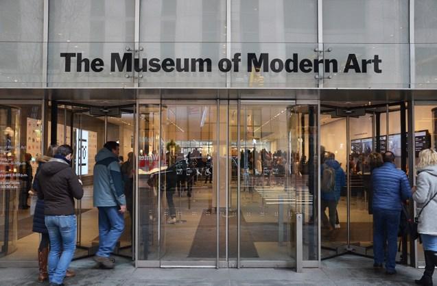 Entrée du Museum of Modern Art de New York