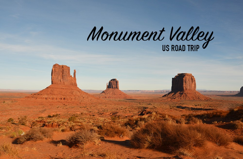 Paysage de Monument Valley, US road trip