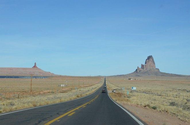 Sur la route de Monument Valley, USA