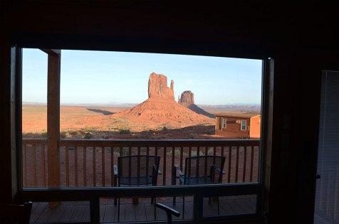 Vue de Monument Valley depuis le lodge