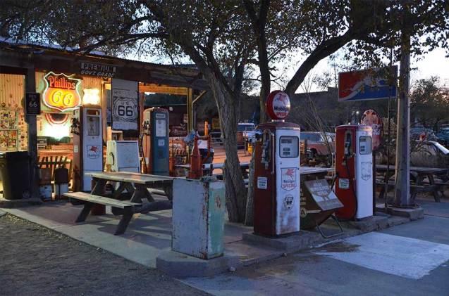 Station service vintage en bord de Route 66