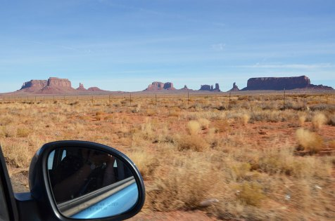 Sur la route de Monument Valley, road trip USA