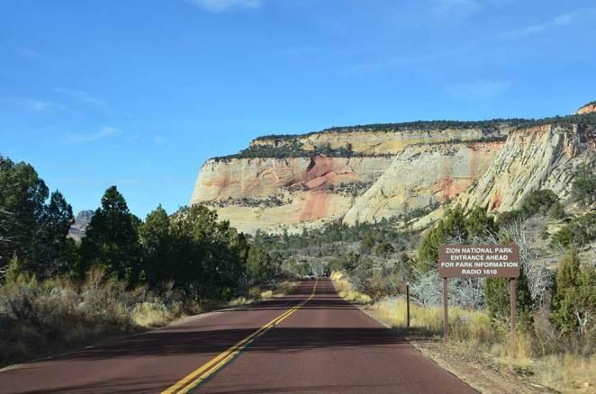 Entrée du Zion National Park, USA