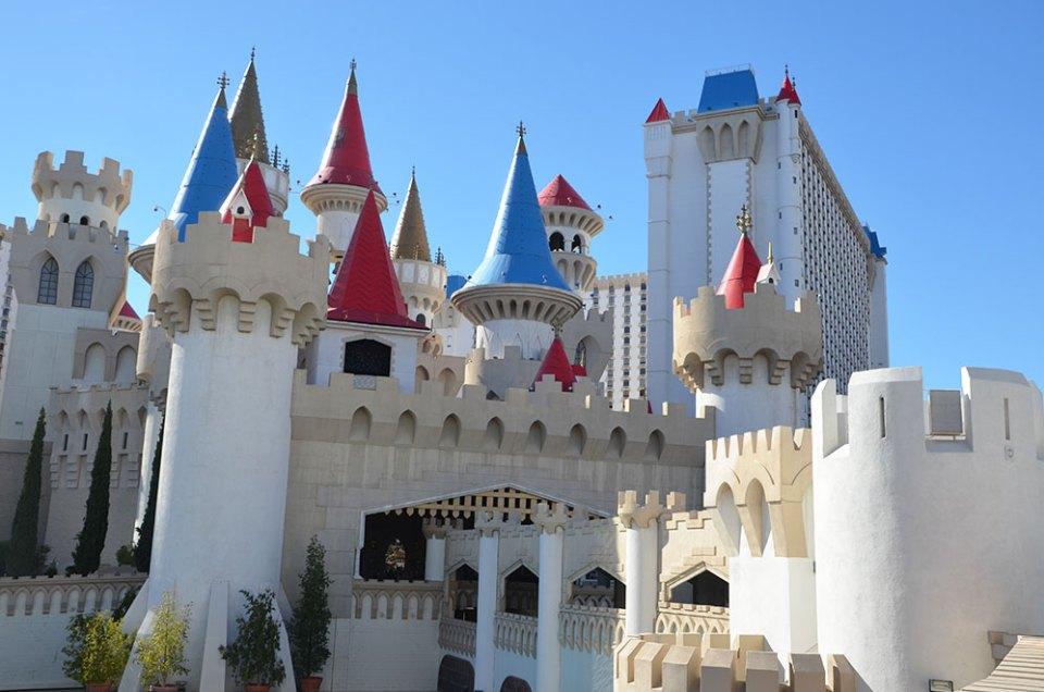 Château géant de l'hôtel Excalibur de Las Vegas