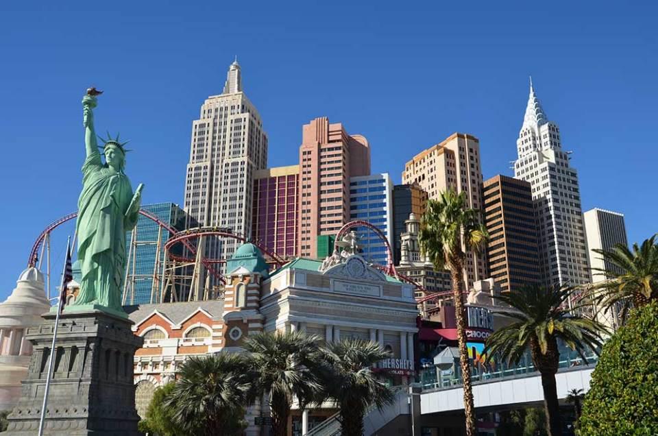 Vue sur l'hôtel New York New York de Las Vegas
