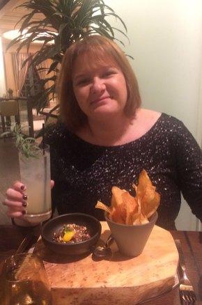 Marie-Catherine au restaurant du Bellagio, Las Vegas