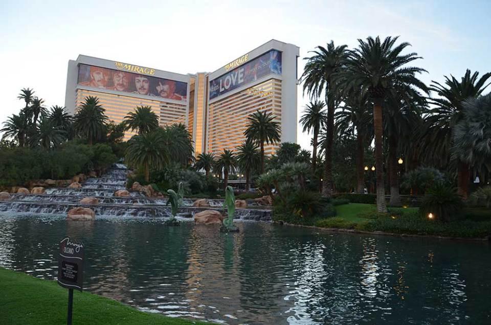 Vue sur l'hôtel Le Mirage, Las Vegas